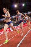 竞技-妇女1500m, TERZIC Amela 库存图片
