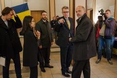 竞选在乌克兰 免版税图库摄影