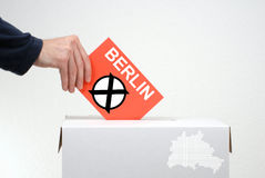 竞选在柏林 免版税库存图片