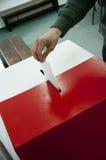 竞选在波兰 库存照片