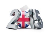 竞选在英国2015年 库存照片