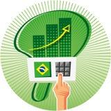 竞选在巴西 库存照片