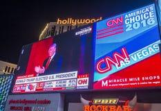 竞选夜在拉斯维加斯 免版税库存图片