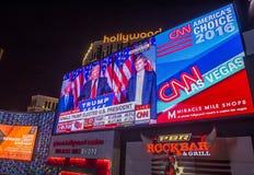 竞选夜在拉斯维加斯 库存图片