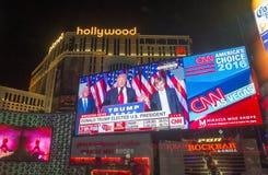 竞选夜在拉斯维加斯 免版税图库摄影