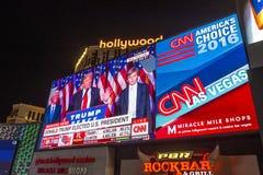 竞选夜在拉斯维加斯 免版税库存照片