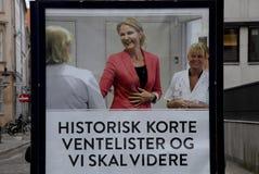 竞选广告牌的总理 库存图片