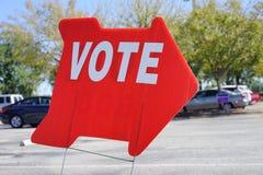 竞选表决标志 免版税图库摄影