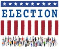 竞选表决民主公民投票图表概念 免版税库存图片