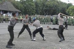 竞选表现保安警察强迫 图库摄影