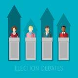 竞选辩论的概念 向量例证