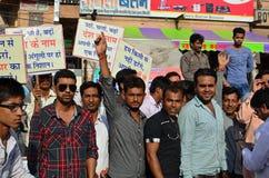 竞选集会,印度新年节日,乔德普尔城,  免版税库存照片