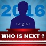 竞选2016年谁是下位总统Banner 免版税库存照片