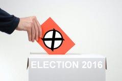竞选2016年 库存照片