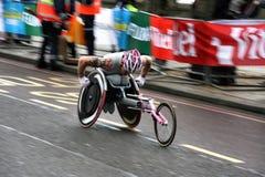 竟赛者轮椅 免版税库存图片