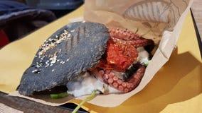 章鱼三明治 库存图片