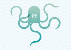 章鱼动画片例证 免版税库存图片