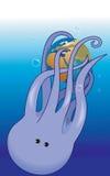 章鱼和地球 库存图片