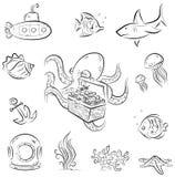 章鱼和胸口 免版税库存照片
