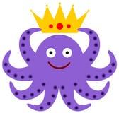 章鱼国王 库存照片