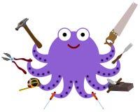章鱼工具 免版税库存照片