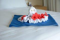 章鱼形状毛巾 免版税图库摄影