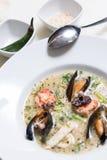 章鱼汤用淡菜 图库摄影