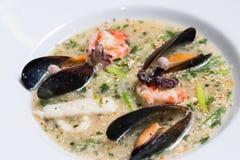 章鱼汤用淡菜 免版税库存图片