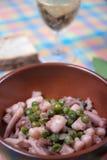 章鱼用绿豆 免版税库存照片