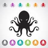 章鱼的传染媒介图象 库存图片