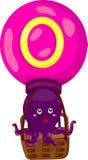 章鱼的字母表O 免版税库存图片