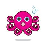 章鱼逗人喜爱的动画片 库存图片