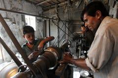 童工在孟加拉国 免版税图库摄影