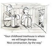 童年树上小屋 向量例证