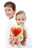 童年概念吃健康 库存照片