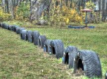 童年现场通过围场 免版税库存图片