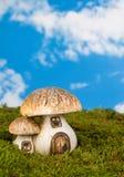 童话伞菌 库存照片