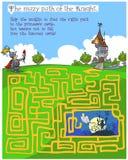 童话儿童的迷宫比赛 库存图片
