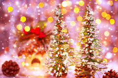 童话圣诞节 免版税库存照片