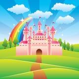童话城堡传染媒介例证 免版税库存照片