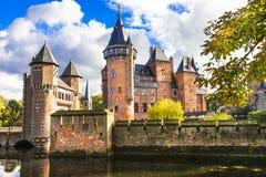 童话城堡德哈尔 免版税库存照片