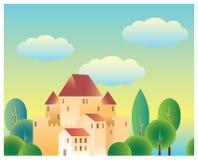 童话城堡 向量例证