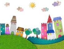 童话城市 库存图片