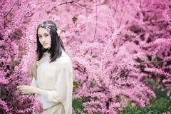 童话女孩 神秘的矮子妇女Portrai  库存照片