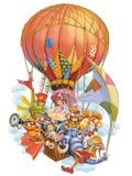 童话字符在旅行邀请 免版税库存照片