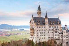 童话新天鹅堡城堡,巴伐利亚,德国 免版税库存图片