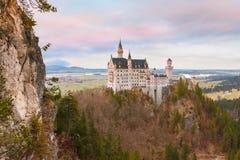 童话新天鹅堡城堡,巴伐利亚,德国 图库摄影