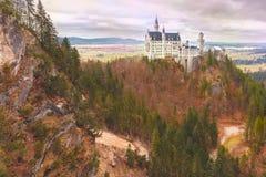 童话新天鹅堡城堡,巴伐利亚,德国 库存照片