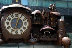 童话时钟 库存图片