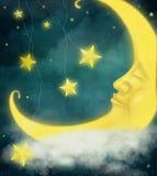 童话月亮 库存图片